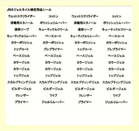 メール便OK 日本ネイリスト協会(JNA) JNAジェルネイル検定用品シール