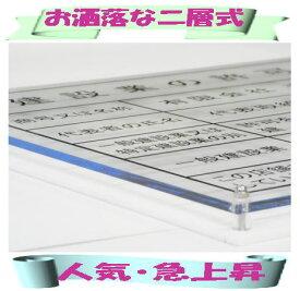 建設業の許可票 看板 大人気・お洒落な二層式 建設業許可票 事務所用 標識 サインプレート 二層式の建設業の許可票