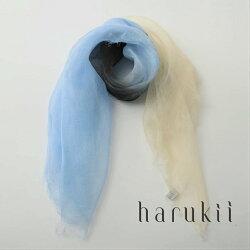 harukii/ぼかし染ラミー薄羽ストールMini水縹