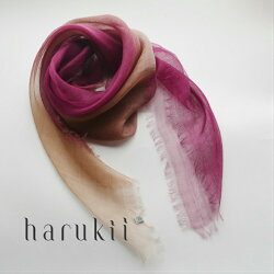 harukii/ぼかし染ラミー薄羽ストールS華紫