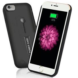【リング付き・スタンド機能】 iPhone 6/6S/7/8兼用 ケース型バッテリー 衝撃吸収 軽量 薄型 バッテリー内蔵ケース大容量 急速充電 5000mAh〜8500mAh リング スタンド機能 シンプルス アイフォン8/7/6/6Sケース