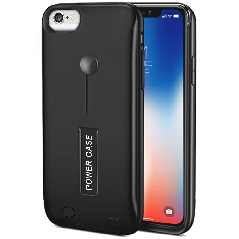 【2019年最新版】iPhone8 ケース/iPhone7ケース 6800mAh モバイルバッテリー リング付き 耐衝撃 スタンド機能 ケース+バッテリー 軽量 磨り表面 指紋防止 スリム バッテリー内蔵ケース 薄型 tpu 高品質 iPhone6ケース/iPhone6Sケース