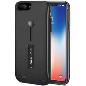 新品 大容量 8500mah iPhone7plus/8plus/6splus/6plus 対応 急速充電 モバイル バッテリー内臓ケース リング スタンド機能 バッテリーケース 軽量 薄い 保護ケース