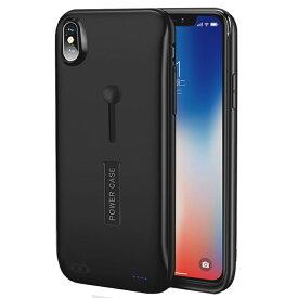 【2019年最新版】バッテリーケース iphoneX バッテリー内蔵ケース リング付き iphone Xs battery case 6000mAh 大容量 急速充電 スタンド機能付き 便利 Ligtingイヤホンに対応 アイフォンXsケース