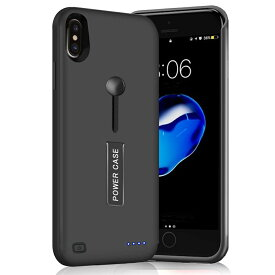 新品 5000mAh〜8500mAh iPhone XS Max ケース バッテリー内蔵ケース 大容量 急速充電 ケース型バッテリー 軽量 薄型 アイフォンXS Max バッテリーケース 全面保護 リングホルダー スタンド付き モバイルバッテリー