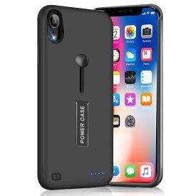 【2019年最新版】iPhone XR 対応 バッテリーケース 5000mAh 大容量 バッテリー内蔵ケース 薄型 軽量 急速充電 ケース型バッテリー リング スタンド機能 iPhonexr 対応 150%バッテリー容量追加