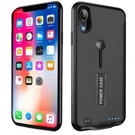 【5000mAh〜8500mAh】iPhone XR 対応 バッテリーケース 大容量 バッテリー内蔵ケース 薄型 軽量 急速充電 ケース型バッテリー リング スタンド機能 iPhonexr 対応