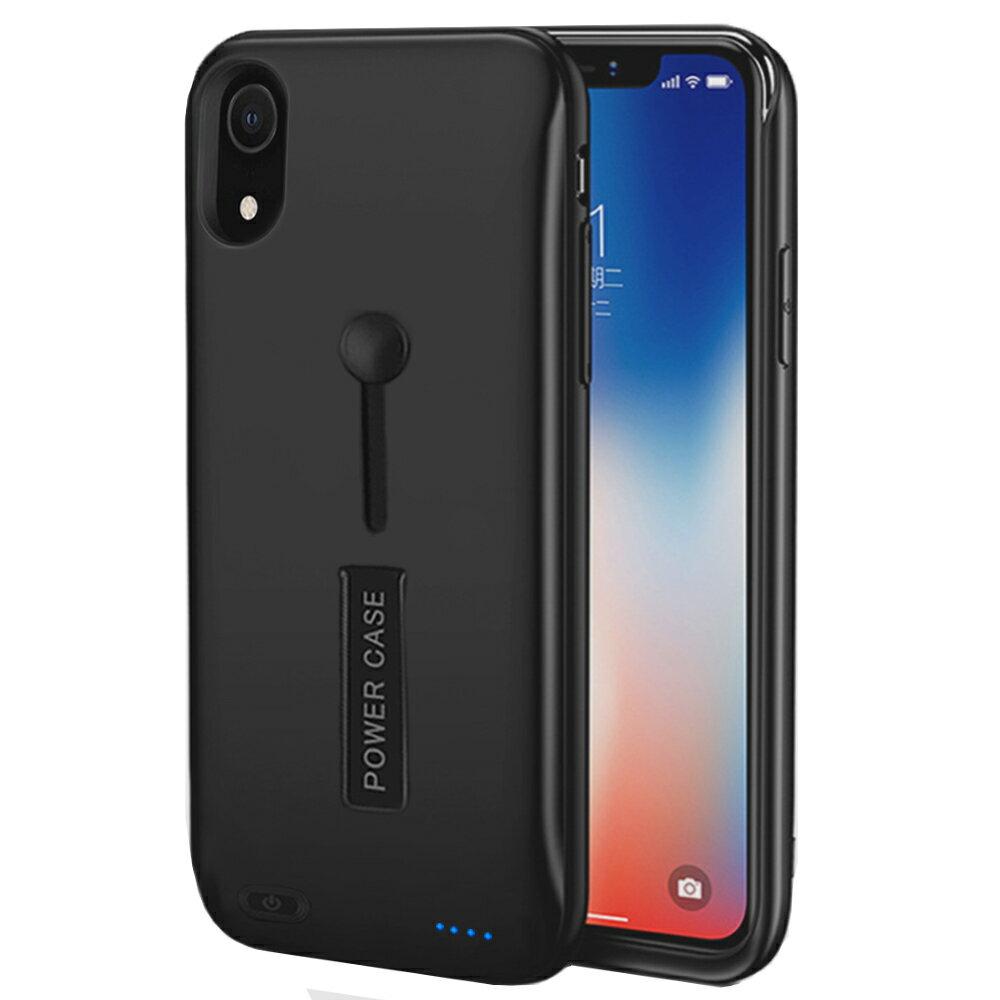 【8500mAh】 iPhone XR バッテリー内蔵ケース 大容量 急速充電 バッテリーケース 軽量 超薄 耐衝撃 ケース型バッテリー アイフォン XR リング スタンド機能 モバイルバッテリー