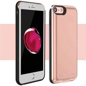 新品 iPhone 8 / 7 / 6s / 6 専用バッテリー内蔵ケース 6000mAh 急速充電 大容量 バッテリーケース 軽量 超薄 耐衝撃 ケース型バッテリー モバイルバッテリー 4.7 インチ アイフォケース ローズゴールド