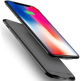 新品 iPhone XS Max 対応 5000mAh〜8500mAh バッテリーケース 大容量 バッテリー内蔵ケース 薄型 軽量 急速充電 ケース型バッテリー iphone XS Max 対応 充電ケース 6.5インチ(ブラック)