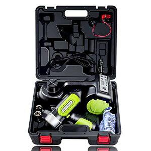 E-HEELP電動ジャッキ 3-in-1 電気自動車のフロアジャッキ インフレータポンプとLED懐中電灯 インパクトレンチ 多機能油圧ジャッキ 車