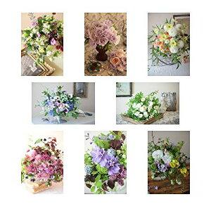 ポストカード 花の写真 8枚(8種)+おまけ1枚 セット 花屋オリジナル 花 ブーケ 花束 絵葉書 アレンジメント POSTCARD おしゃれ 絵は