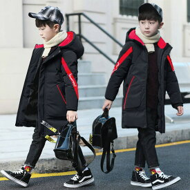 韓国子供服 男の子 子供コート中綿コート ジャケット キッズコート 秋冬ダウンコート アウター ロングコート フード付き 厚手