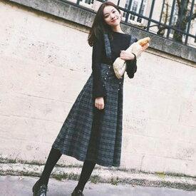 2点セット レディース カジュアル 40代 秋冬 韓国風 長袖 セーター トップス ワンピース 大きい サイズ おしゃれ 通勤 大人 上品 着痩せ OL 新品