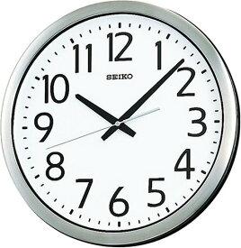 【名入れ 文字入れ無料】SEIKO CLOCK (セイコー クロック) 掛時計/掛け時計 オフィスタイプ クオーツ 防湿・防塵型 金属枠 KH406S