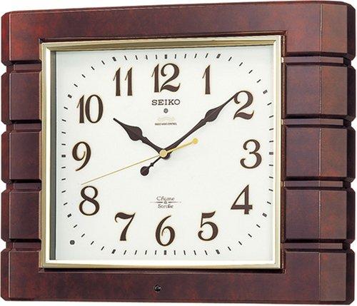 SEIKO CLOCK (セイコー クロック) 掛時計/掛け時計 チャイム&ストライク 電波時計 ツイン・パ RX209B