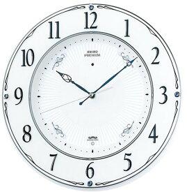 【名入れ 文字入れ無料】SEIKO CLOCK (セイコー クロック) 掛時計/掛け時計 プレミアム 電波時計 ツイン・パ スワロフスキー・クリスタル飾り LS230W