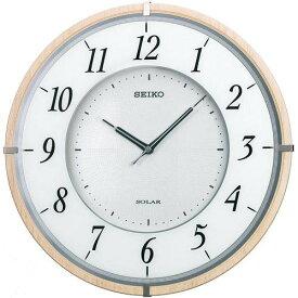 【名入れ 文字入れ無料】SEIKO CLOCK (セイコー クロック) 電波掛時計/掛け時計 ツイン・パ 薄型ソーラープラス 木枠 ブラウン SF501B