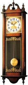 【名入れ 文字入れ無料】SEIKO CLOCK (セイコー クロック) クラシック木枠長尺振り子掛時計/掛け時計(茶) RQ306A