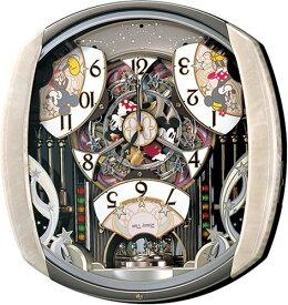 SEIKO CLOCK (セイコー クロック) キャラクタークロック Disney Time(ディズニータイム) 掛け時計 ミッキー&フレンズ 電波時計 ツイン・パ FW563A