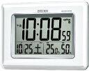 SEIKO CLOCK (セイコー クロック) 電波デジタル掛け時計 ツイン・パ 掛置兼用 温湿度表示 ホワイト SQ424W