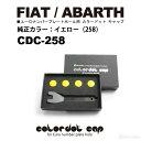 【フィアット・アバルト専用】イブデザインカラードットキャップ CDC-258カラー:イエローユーロナンバープレートホー…