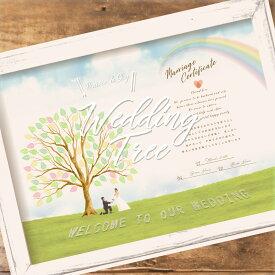 【送料無料】ウェディングツリー結婚証明書 選べるオプション全5種類 A4 B4 A3サイズ 適応人数20〜90名様