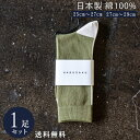 モスグリーン×エクリュ 日本製 綿 100% 定番 バックラインソックス 1足組 靴下 メンズ フォーマル ビジネス ソックス 25~29 cm 23 24 25 26 27 28 29 大きいサイズ