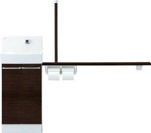 コフレル 【YL-DA83STH15E】 トイレ手洗 ワイド(壁付) ハンドル水栓 手すりカウンター キャビネットタイプ(左右共通) 【YLDA83STH15E】 LIXIL リクシル INAX イナックス 手洗い器 トイレ