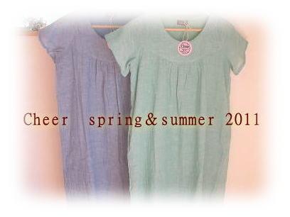 【送料無料】【Cheer】【ナチュラル】【春ワンピ】 やわらかい生地で、着心地が良いですよ♪ 色目がやわらかくきれいで春らしいワンピースです! (ガーゼ フランシュ スリーブ ワンピース)Spring&Summer size:フリー 【CHEER】夏