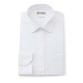【小林製薬×はるやま共同開発】 ワイシャツ 長袖 アイシャツ 標準体 形態安定 セミワイド ホワイト 織柄無地 通年 完全ノーアイロン 家庭洗濯 吸水速乾 部屋干し対応 ストレッチで着心地抜群 ニットシャツ yシャツ