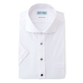 ワイシャツ 半袖 カッタウェイ ホワイト アイシャツ 完全ノーアイロン 形態安定 制菌 消臭 吸水速乾 防汚 ストレッチ ビジネス メンズ スーツのはるやま yシャツ