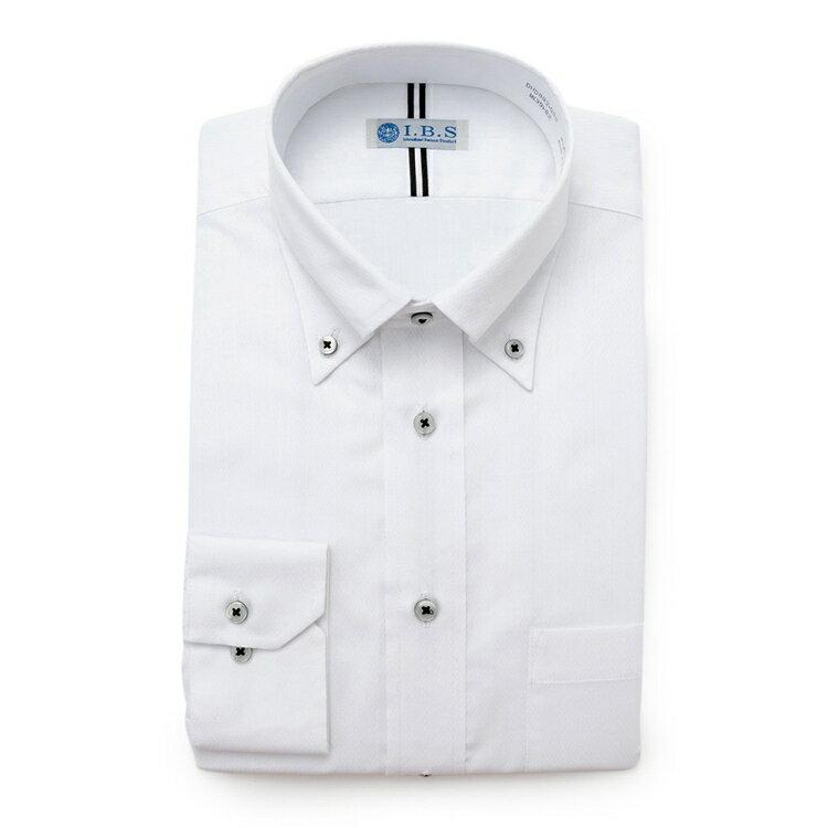 I.B.Sボタンダウンワイシャツ(ルームドライ)/その他/ホワイト