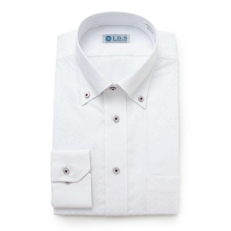 I.B.Sボタンダウンワイシャツ(ルームドライ)/その他/オフホワイト