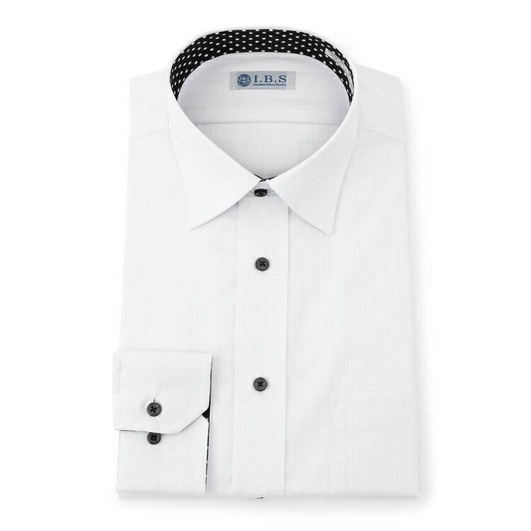 I.B.Sセミワイドカラーワイシャツ(スパークガード)/その他/ホワイト