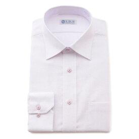 Yシャツ/長袖/セミワイド/パープル/デザイン/スタンダード/I.B.S/形態安定/消臭/抗菌/