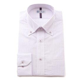 Yシャツ/長袖/ボタンダウン/ピンク/デザイン/スタンダード/I.B.S/形態安定/消臭/抗菌/