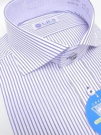 Yシャツ/長袖/ホリゾンタル/ブルー/デザイン/スタンダード/I.B.S/形態安定/消臭/ストレッチ/抗菌/