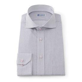 Yシャツ/長袖/ホリゾンタル/パープル/デザイン/スタンダード/I.B.S/形態安定/消臭/ストレッチ/抗菌/
