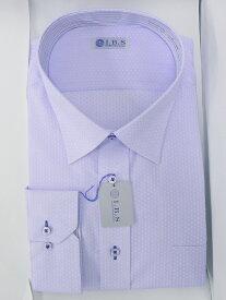 Yシャツ/長袖/セミワイド/ブルー/デザイン/スタンダード/I.B.S/形態安定/