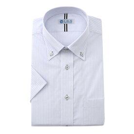 半袖ワイシャツ IBS 汗染み防止 スタンダード グレー ボタンダウン クールビズ yシャツ