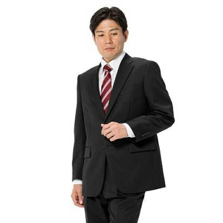 スーツ メンズ 背広 メンズスーツ 2つボタン 2ピース ブランド ワンタック ストライプ ブラック 秋冬 ウール混 ゆったり KANSAIYAMAMOTO カンサイ メンズファッション スーツのはるやま