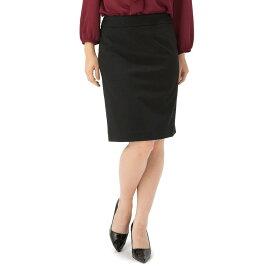 【値下げ】レディーススカート ウィメンズ ウオッシャブルスカート soffice ブラック 黒 無地 通年 ストレッチ
