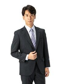 スーツ/2ピース/スタンダード/MARIO VALENTINO/秋冬/グレー/ストライプ/ブランドスーツ/高級生地使用/