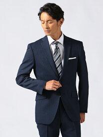 スーツ メンズ スリムシルエット ネイビー ネロアンクル ウエストラインをきれいに見せるジャケットの絞り込み 脚を長く見せるこだわりのパンツシルエット ポリエステル100%生地 2つボタン シングルスーツ EC限定商品