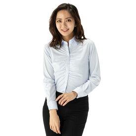 【値下げ】ブラウス レディース 長袖 アイシャツ レギュラー 形態安定 完全ノーアイロンでお手入れ簡単 ノンアイロン ブルー はるやま