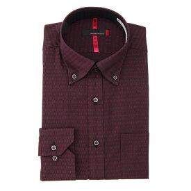 ワイシャツ メンズ Yシャツ カッターシャツ 長袖 形態安定 ストレッチ 無地 ワイン 通年 綿 スリム ドゥエボットーニ RESPECTNERO リスペクトネロ メンズファッション スーツのはるやま