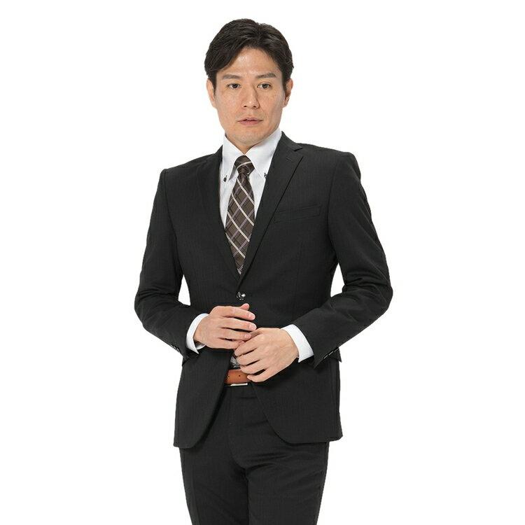 スーツ/2ピース/2つボタン/スリム/RESPECTNERO/秋冬/ブラック/シャドウストライプ