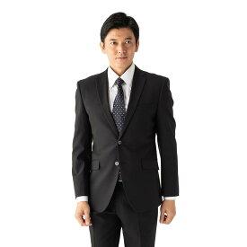 スーツ/2ピース/2つボタン/スリム/RESPECTNERO/ブラック/シャドウストライプ/ストレッチ/アンクルパンツ/