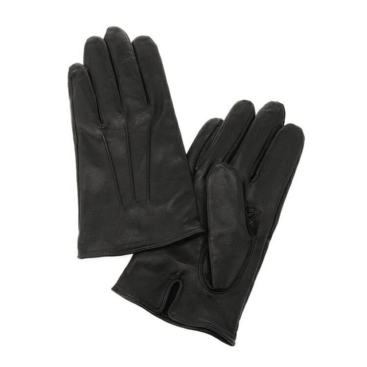 レザー手袋/無地/ブラック